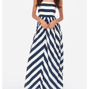 LuLu's striped maxi dress, small, never worn